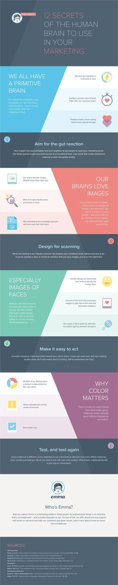 12 Secrets Of The Human Brain To Use In Your Digital  -- 12 Facts About the Human Brain That Will Make Your #Marketing More Successful #Infographic