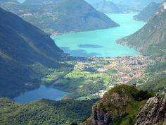 Porlezza con il ramo del Lago di Lugano