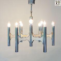Stunning Italian chandelier from the 1970's, designed by Gaetano Sciolari #19west #vintage #design #lamp #italiandesign #sciolari #seventies