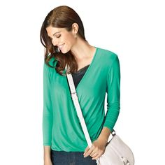 """Your new """"go-to top""""! The V-neck gets an update with ultra-flattering draping and high-low hemline. Wear this flowy top everywhere -- you won't find a more versatile or more flattering top!Introducing Signature Collection:Effortless style that's totally wearable. Pieces that flatter your shape and fit in comfortably with your lifestyle. That's the heart of Avon's Signature Collection. Designed by Avon. Inspired by you. Meet your new favorite label.FEATURES• Faux wrap at front&bull..."""