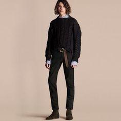 Shop Now - >  https://api.shopstyle.com/action/apiVisitRetailer?id=542775977&pid=uid6996-25233114-59 Burberry Multi-knit Cotton Blend Sweater  ...