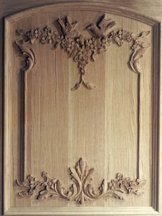 One of six rift cut oak doors  in a french provincial style for a venerable Long Island Chateau
