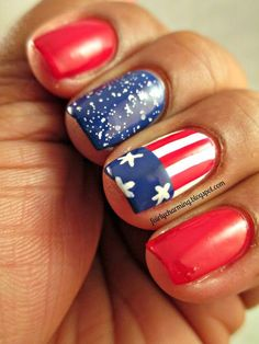 Top 15 Patriot Nail Design For July 4th Holiday – New & Famous Fashion Manicure - Way To Be Happy (11)
