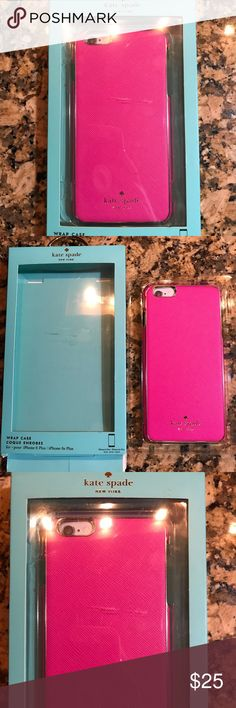 Kate Spade iPhone 6s Plus case Kate spade saffiano leather iPhone 6s Plus case. Ordered this case and then got the 7plus so it's never been used. I only took it out of the box for these pictures. kate spade Accessories Phone Cases