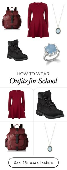 """""""School"""" by doctorwholoverforeverabdalways on Polyvore featuring Apricot, Timberland, Armenta and Kenneth Cole Reaction"""