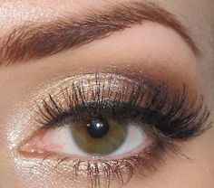 copper shadow on top AND under bottom lash line I feel that this really can bring out the green in my type of hazel eyes!