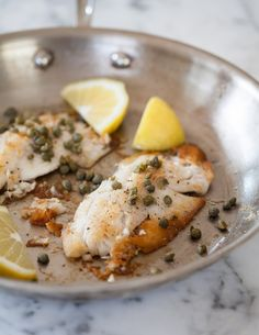 How To Cook Fish on the Stovetop — Cooking Lessons from The Kitchn // a fantastic quick dinner! for an even better finish, deglaze the pan with a little white wine when the fish is done, then pour the sauce over the fish. (then, of course, drink the rest of the wine.)