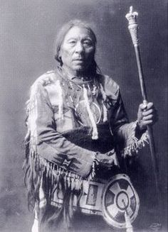 Aatsista-Mahkan or Running rabbit (c.1833–c.1911) - chief of Blackfoot Siksika First Nation. Son of Akamukai (Many Swans), chief of Biters band, & following death of his father in 1871, he took control of the band. He was known for his generosity & kindness, & for his loyal protection of his family. In 1877, he was a signatory to Treaty 7, but he & his people continued to follow the bison until 1881, when he & his people were designated to settle on a reserve, 60 miles east of Calgary, Alber...