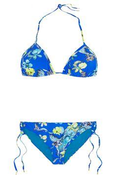 Matthew Williamson|Escape floral-print triangle bikini|NET-A-PORTER.COM