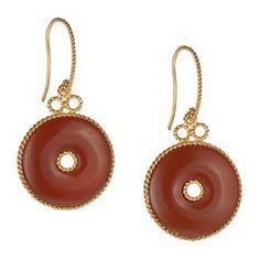 Chinese Agate Bi Earrings - Earrings - Jewelry - The Met Store