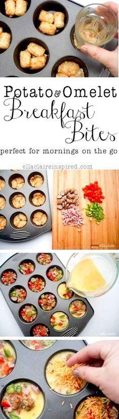 Potato & Omelet Breakfast Bites