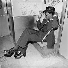 Jive Guy on Williamsburg Subway Brooklyn, NY, March 1978 © Meryl Meisler