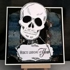 Birthday card made using Sheena Douglass stamps and dies. #skulls