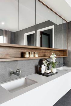55 Stunning Farmhouse Bathroom Mirror Design Ideas And Decor - . 55 Stunning Farmhouse Bathroom Mirror Design Ideas And Decor - Always aspired. Farmhouse Bathroom Mirrors, Bathroom Mirror Design, Bathroom Inspo, Bathroom Renos, Modern Bathroom Design, Bathroom Interior Design, Bathroom Styling, Bathroom Renovations, Bathroom Ideas