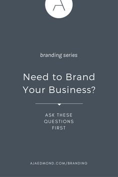 Need To Brand Your Business? Answer These Questions First and Learn the preparation process you should go through before you start branding your business Personal Branding, Social Media Branding, Branding Your Business, Business Marketing, Business Tips, Business School, Business Quotes, Business Card Maker, Unique Business Cards