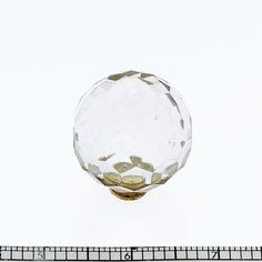 Faceted Crystal Acrylic Ball Knob with Solid Brass Base(JVJ54104), $3.52