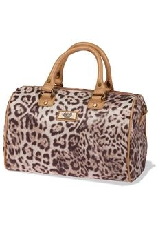 Gigi Hill Natalie handbag look so stylish with snow leopard see the review on TheCelebrityCafe.com