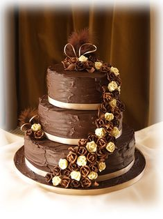 Chocolate Cheesecake Wedding Cake. Best idea for a wedding cake ever!!!!