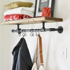DIY Industrial Coat Rack