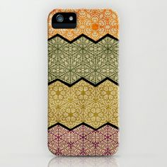 Pattern, Zig, Pattern, Zag, Repeat iPhone Case by Susan Weller - $35.00