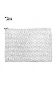 Goyard Clutch Bag GM White Goyard Clutch, Clutch Bag, Joy, My Style, Bags, Fashion, Handbags, Moda, Fashion Styles