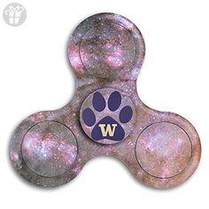 University Of Washington Mascot Husky Tri Fidget Hand Spinner - Fidget Work Fast Bearings - Finger Toy, Great Gift For Fidgety Hands, ADD & ADHD Sufferers Stress - Fidget spinner (*Amazon Partner-Link)