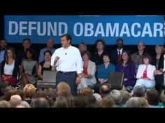 Ted Cruz Addresses Hecklers During Defund Obamacare Speech