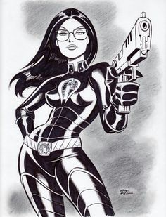 """The Baroness """"G.I. Joe"""" by Bruce Timm."""