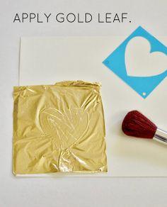 AMAZINNGLY THROUGH  Gold Leaf Art TUTORIAL.    LiveLoveDIY