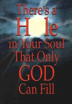 Praise The Lord -- I have a great big hole in my heart right now....The lord and I are working it out together!  PTL!