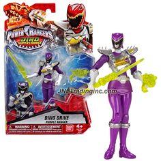 "Bandai Saban's Power Rangers Dino Super Charge Series 5"" Tall Figure - Dino Drive PURPLE RANGER with Blaster and Sword"