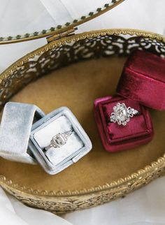 This winter wedding inspiration shoot fuses gorgeous fashion-forward brides and their different aesthetics. See the photos by Rebecca Yale Photography.