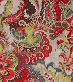 Richloom Studio Upholstery Print Fabric-Plantation Cardinal