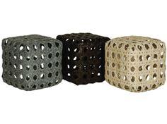 Tango Rattan Cube Side Table