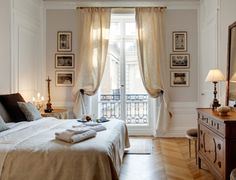 Master Bedroom - Sylvaner Apartment Paris || such an elegant and understated space.