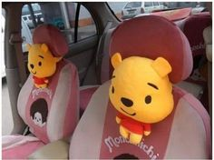 New Winnie The Pooh Doll Car Cushion Pillows Pair | eBay