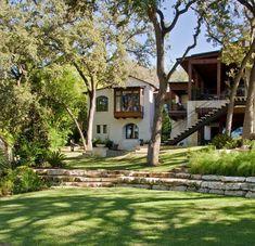 Stunning rustic modern home nestled on beautiful Lake Austin, Texas
