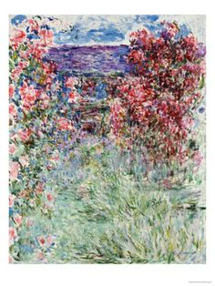 The House in the Roses, 1925 Print by Claude Monet at Art.com