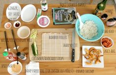 Hello Hue: from our recipe box: {make your own sushi rolls!}