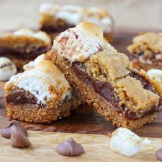 S'mores crumble bars.