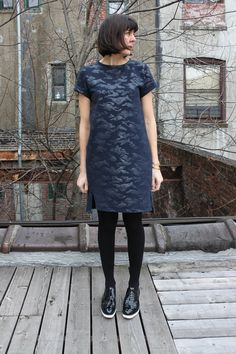 Noble & Daughter: Named Clothing Inari Dress No.3 in camo ponte.