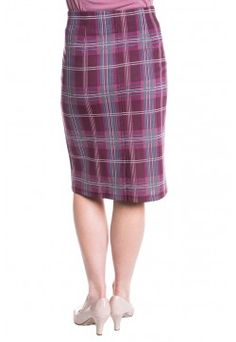 Type 2 Ponte Pencil Skirt In Plaid