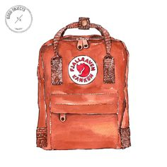 Good objects - @fjallravenofficial Backpack from @depto51 #goodobjects #watercolor #illustration #affiliate