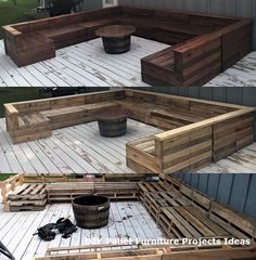 Wooden Pallet Furniture New DIY Pallet Projects and Ideas on a budget Backyard Patio Designs, Diy Patio, Backyard Landscaping, Landscaping Ideas, Pallet Furniture Outdoor Couch, Diy Garden Furniture, Outdoor Pallet, Wooden Furniture, Garden Pallet