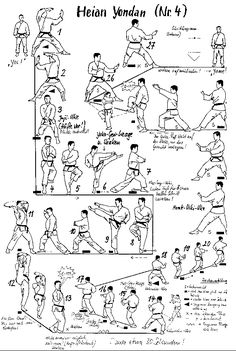 Shorin Ryu Kata Diagrams | Shotokan Karate Katas this is the one I'm at. I love this kata!!!<<< update! I'm a second green belt :3 heian gondan now!