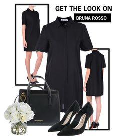 Total Black by brunarosso-eshop on Polyvore featuring moda, Diane James and Salvatore Ferragamo