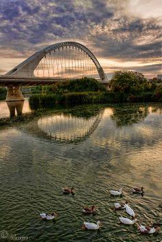 Beautiful Bridge in Merida, Spain