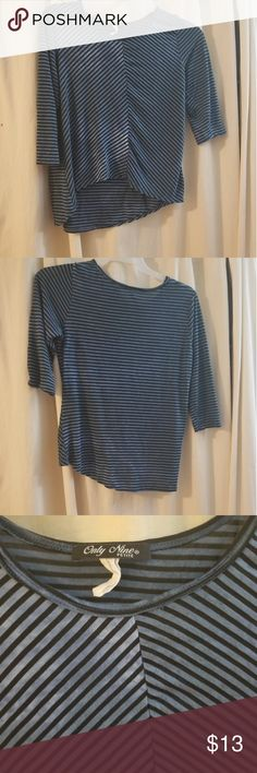 Womens shirt Used but still looks wonderful! Very flattering design as well. Have to love those kind of clothes! **Bundle 3 items from my closet and get 10 percent off!** Only Nine Tops Tees - Long Sleeve