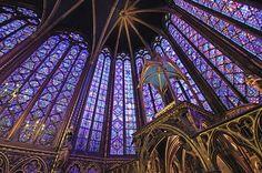 Chapelle haute - vitraux du Choeur - détail
