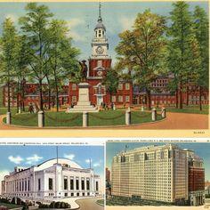 Philadelphia, Independence Hall, Sunken Garden, South Lake Tahoe, Travel Souvenirs, Auditorium, Vintage Disney, Epcot, Disney Art